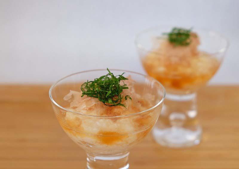 長芋の梅酢和え